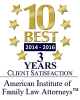 10 Best 2014 - 2016 American Institute of Family Law Attorneys