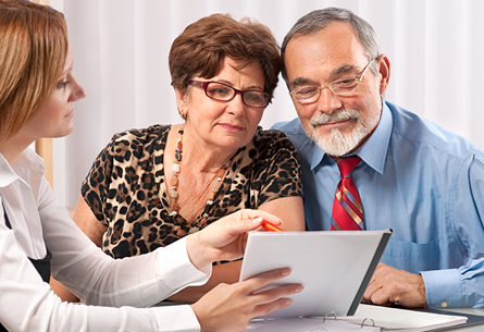 Senior Couple with Estate Planning Attorney in Tampa Bay, FL